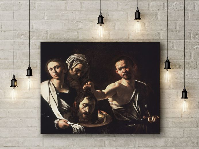 Caravaggio: Salome with the Head of John the Baptist. Fine Art Canvas.